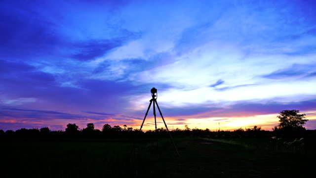 Shooting landscapes at sunset