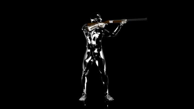 3D Shooting man