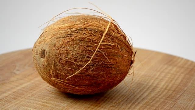 fotografering av kokos.coco i ett avsnitt, juice. - skalhylsa bildbanksvideor och videomaterial från bakom kulisserna