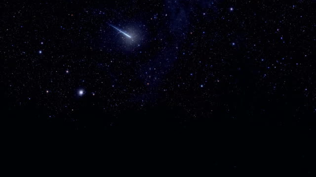 Shooting Star and Starry Sky