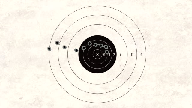 stockvideo's en b-roll-footage met shooting target automatic gun - gun shooting
