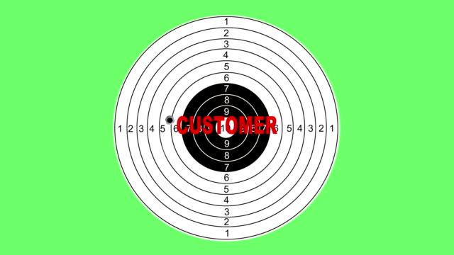 shooting target with word customer - target australia stock videos & royalty-free footage