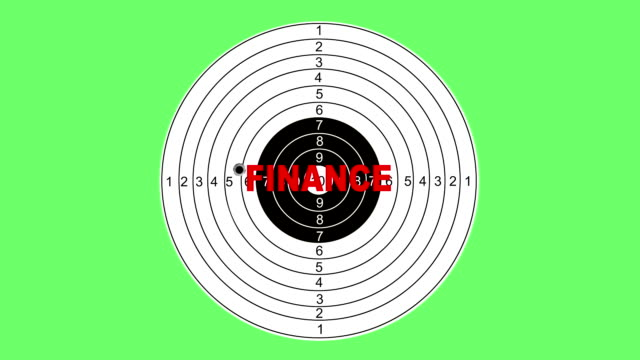 shooting target with word finance - target australia stock videos & royalty-free footage