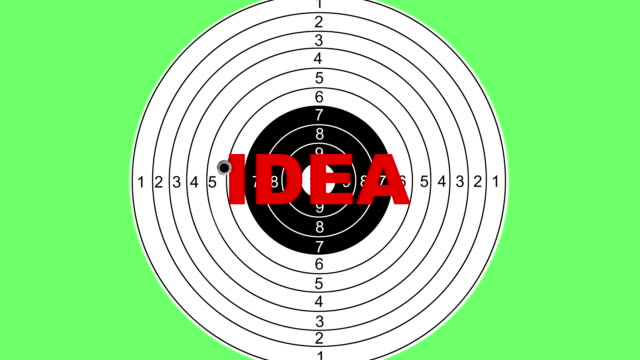shooting target with word idea - target australia stock videos & royalty-free footage