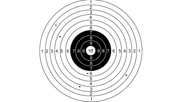 Shooting target with word marketing