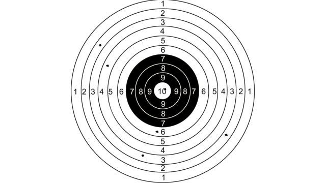 shooting target with word marketing - target australia stock videos & royalty-free footage