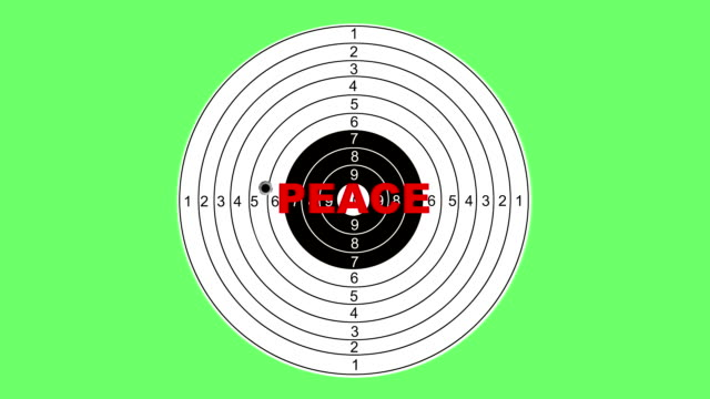 shooting target with word peace - target australia stock videos & royalty-free footage