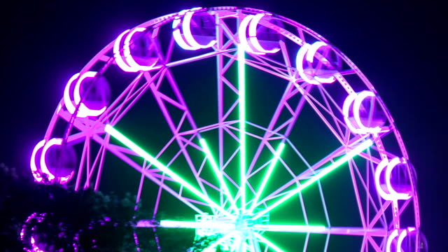 Shooting the ferris wheel close-up. video