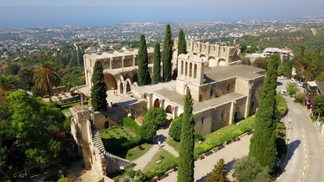 shooting with drone on ancient relic - geografia fisica video stock e b–roll