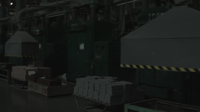 Shop of the plant on a production of brake shoes video