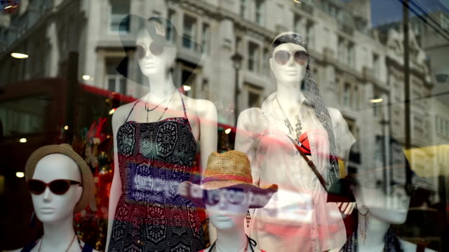 Shop window dummies wearing sunglasses. video