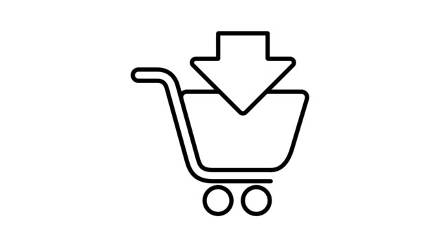 Shopping and logistic - Simple Animated Icons video