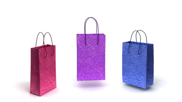 shopping bags are happy - shopping bags stock videos & royalty-free footage