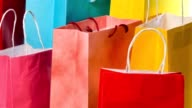 istock Shopping bags isolated against a white background 1253206030
