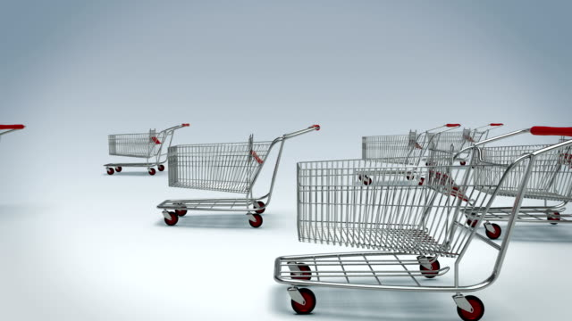 Shopping carts animation with alpha mask Shopping carts animation with alpha mask shopping cart stock videos & royalty-free footage
