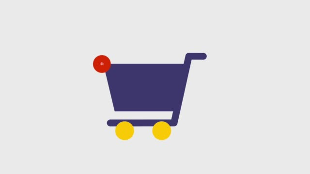 shopping e-commerce-icons - plus stock-videos und b-roll-filmmaterial