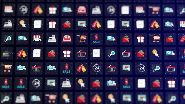 ショッピングアイコンセット - アイコン プレゼント点の映像素材/bロール