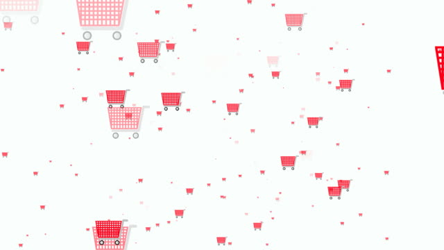 Shopping Icons Shopping Icons  shopping cart stock videos & royalty-free footage
