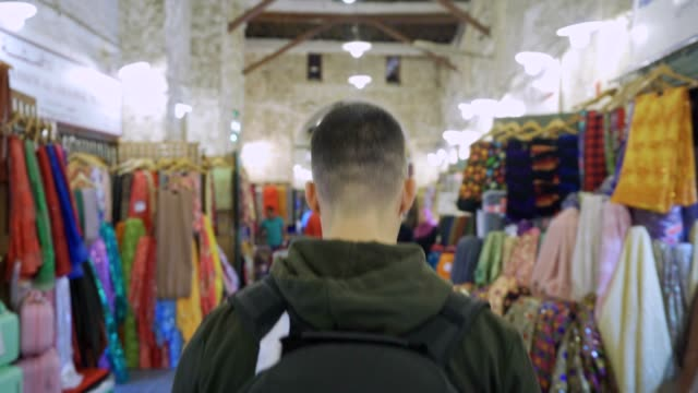 shopping in an old market - souk video stock e b–roll