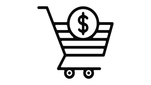 ショッピング ライン モーション グラフィック - アイコン プレゼント点の映像素材/bロール