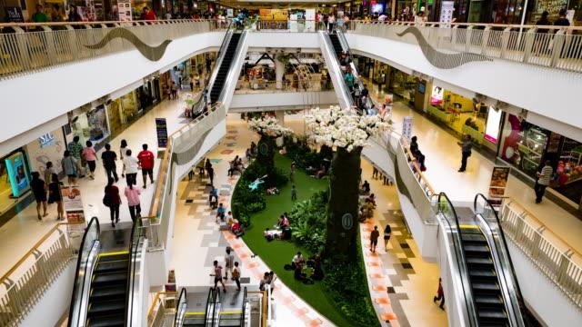 Shopping Mall Escalator,Time Lapse video