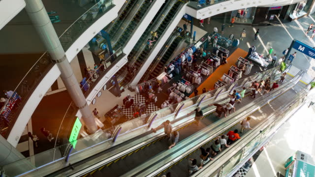 Shopping mall time lapse video