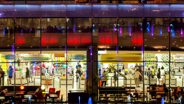 Shopping supermarket,Time Lapse. video