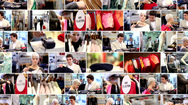 Shopping. Video Wall. video