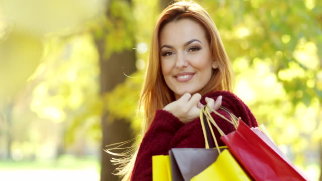 Shopping Woman With credit Cards video