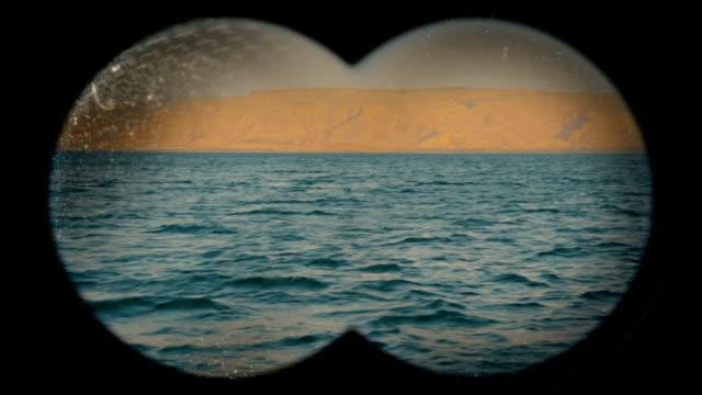 Shore view through binoculars video