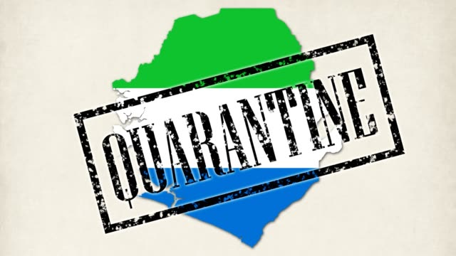 9 short videos. small germs and viruses turn into map of sierra leone country with its flag color. doctor hands in blue medical gloves put inscriptions, stamps pandemic, quarantine, virus, coronavirus, covid-19, emergency, closed, travel ban - sierra leone video stock e b–roll
