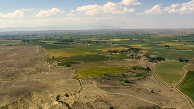 Shoshone River And Bighorn Basin  - Aerial View - Wyoming, Big Horn County, United States video