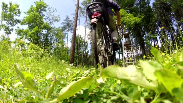 Shot Action camera with a bicycle frame video