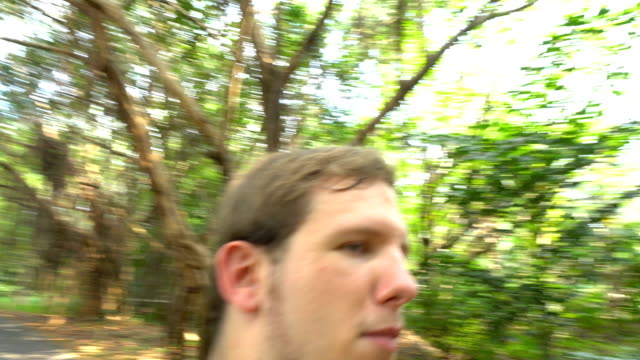 POV Shot - Fly / Mosquito / Insect Annoying Man
