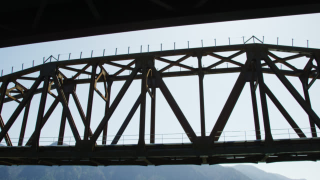 A Shot of a Bridge Spanning the Columbia River in Washington on a Bright, Sunny Day