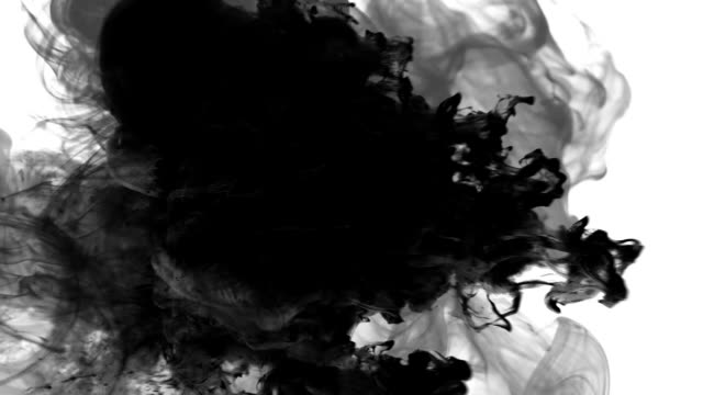 vídeos de stock e filmes b-roll de shot of black smoke on white background hd 1080 - exhaust white background
