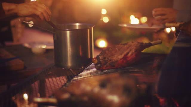 Shot of Chef Preparing Steak on Chopping Board video