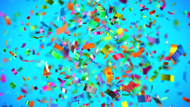 Shot of colourful confetti in 4K High quality animation of colourful confetti in 4K abundance stock videos & royalty-free footage
