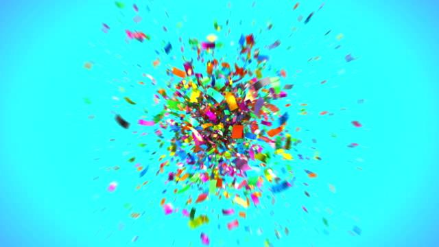 Shot of colourful confetti in 4K