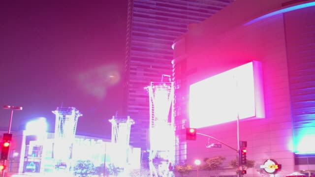 Shot of downtown Los Angeles night scene video