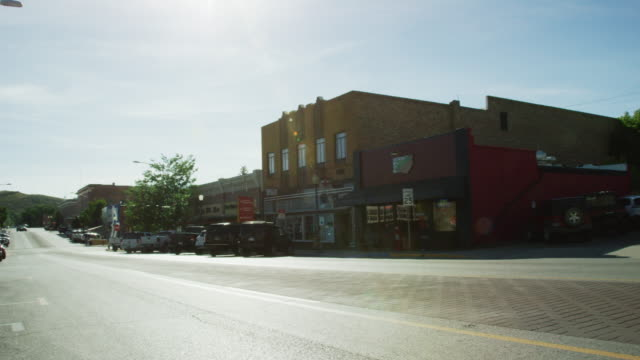 Shot of Downtown Rawlins, Wyoming under a Sunny Sky