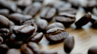 istock Shot of  roasted Coffee bean on the floor 1221014568