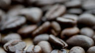istock Shot of  roasted Coffee bean on the floor 1221018528