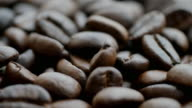 istock Shot of  roasted Coffee bean on the floor 1221023258