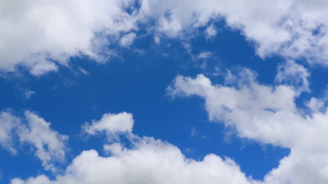 Shot of Various cloud formations against blue sky