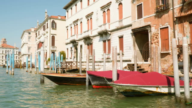 Shot of Venice Grand Canal in Italy from tourist boat video