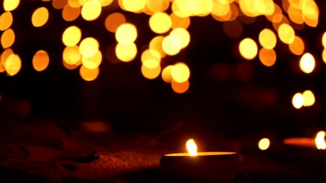 2 skott ljus med bokeh bakgrund - minnesmärke bildbanksvideor och videomaterial från bakom kulisserna