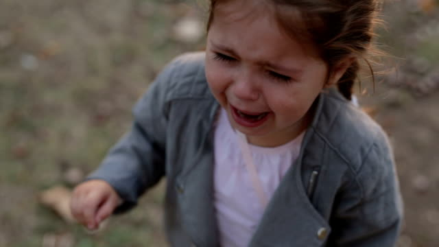 shouting child crying in the park - 2 3 anni video stock e b–roll