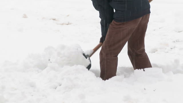 HD: Shoveling Snow video