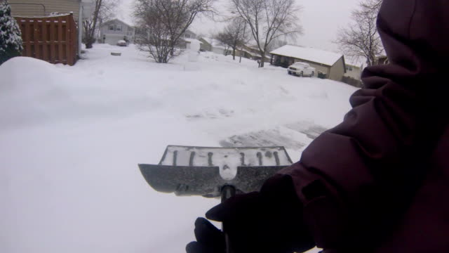 Shoveling Snow POV video
